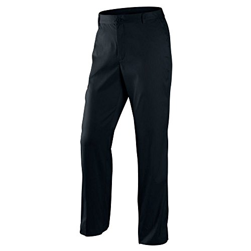 Nike golf tour performance flat front tech golf pants dri fit 597323 012 (32 waist 32 leg) black