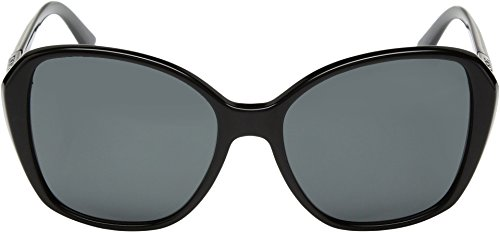 DKNY Women's Plastic Woman Square Sunglasses, Black, 57 mm