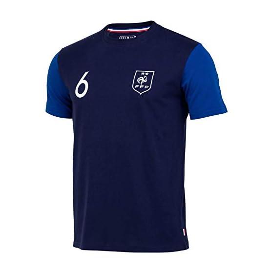 Equipe de FRANCE de football T-Shirt FFF - Paul Pogba - Collection Officielle Taille Homme