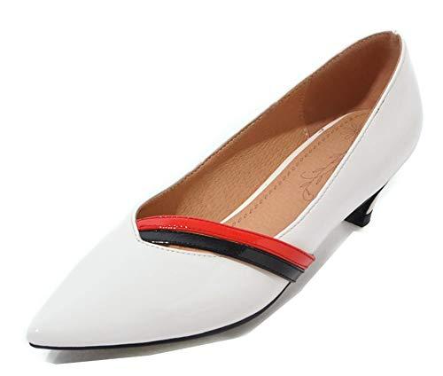 Escarpins Mode Danse Femme Moyen Blanc Talon Aisun Pointu Fille Bout U07w0F