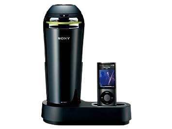 6efd9f7a5a SONY iPod/iPhone用ドックスピーカー 車載用シガー電源対応 ブラック SRS-V500IP