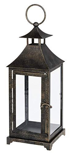 Ganz 14 Inches Height Antique Bronze Metal Lantern