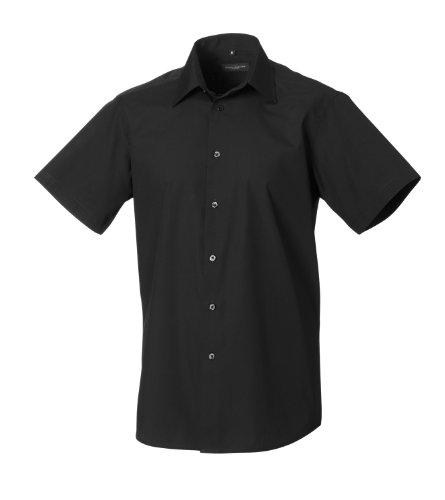 Russell Collection - Camisa formal - Básico - Clásico - Manga corta - para hombre negro