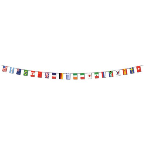 Beistle 57738 International Flag Banner, 12-Inch by (Small Country Flags)