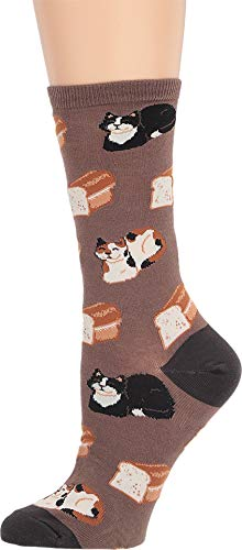Socksmith Cat Loaf Brown 9-11 (Women's Shoe Sizes 5-10.5)