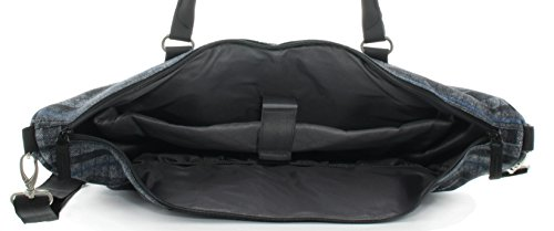 Franky Reisetasche 17 Zoll Laptopfach Grey Flanel Stripe