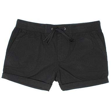 Khakis & Company Women's Stretch Convertible Short (14, Ebony Black) ()