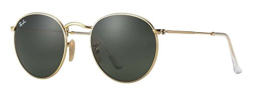 Ray-Ban RB3447 (50 mm Gold Frame Solid Black G15 ()