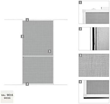 WIP - Mosquitera para puerta corredera (aluminio, 120 x 240 cm), color blanco y gris, Blanco: Amazon.es: Bricolaje y herramientas