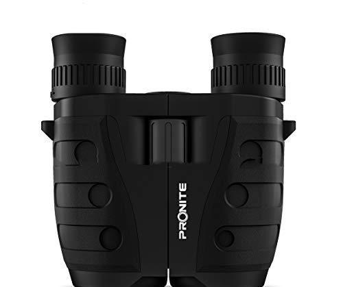 YXTHON 10x25 Low Light Night Vision High Powered Lightweight Waterproof HD Professional Mini Binocular Telescope for Outdoor Hunting, Bird Watching, Hiking ()