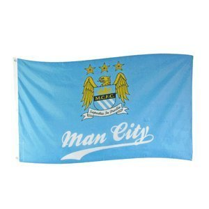 Manchester City FC Authentic EPL Crest Flag SL