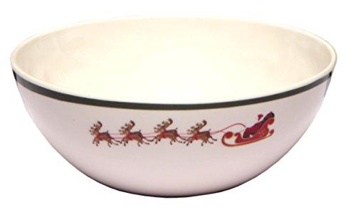 Melange 6-Piece 100% Melamine Bowl Set (Christmas Tree Collection ) | Shatter-Proof and Chip-Resistant Melamine Bowls ()