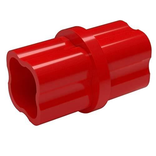 Pipe Red Pvc (FORMUFIT F034ICO-RD-10 Internal PVC Coupling, Furniture Grade, 3/4