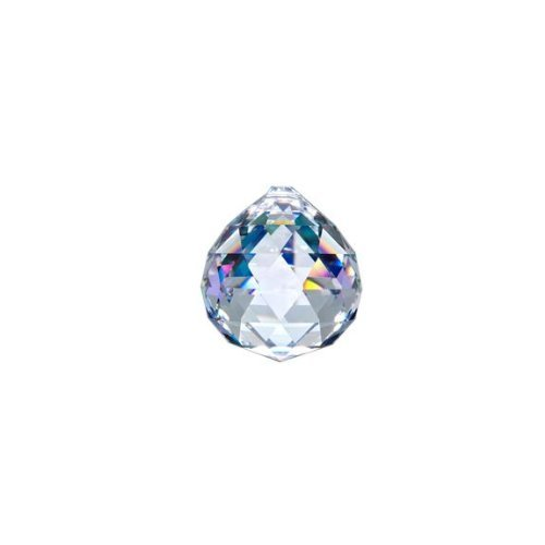 Asfour Crystal 701 Clear Crystal Ball Prism, 20 mm, 1 Hole , Box of 260 Pieces