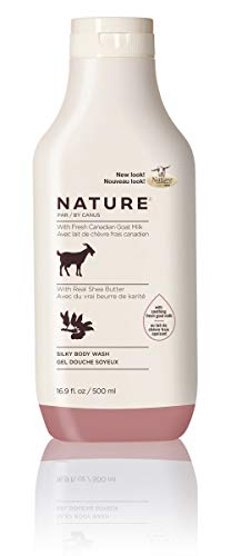 Nature by Canus Silky Body Wash with Fresh Canadian Goat Milk, Real Shea Butter, 16.9 Fluid Ounce