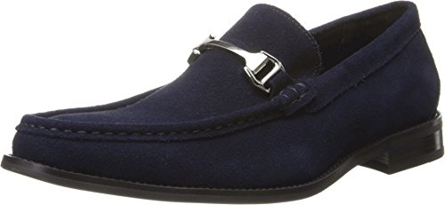 Stacy Adams Men's Flynn Slip-On Loafer,Navy Suede,9.5 M US