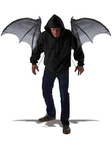Halloween Dragon Wings (California Costumes Men's Wicked Wings, Gray/Black, One)