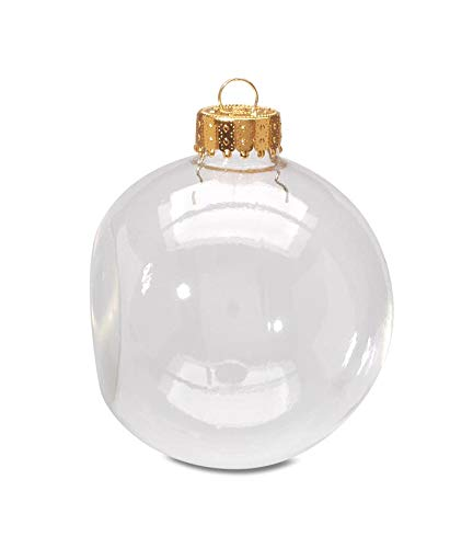 Darice 2610-55 6-Piece Glass Flat Sided Shaped Ornament, Clear Glass, 2 5/8-Inch
