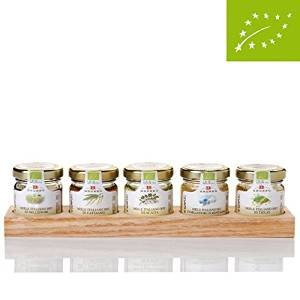Italian Organic Honey Gift Set:Chestnut, Acacia, Wildflowers, Orange Blossom and Lime Honey (5 x 35g)/(5 x 1.2 oz)