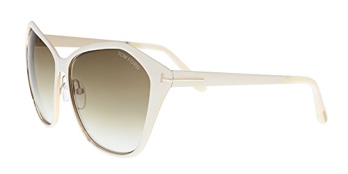 Tom Ford Sunglasses TF 391 Lena 25F White - White Tom Sunglasses Ford