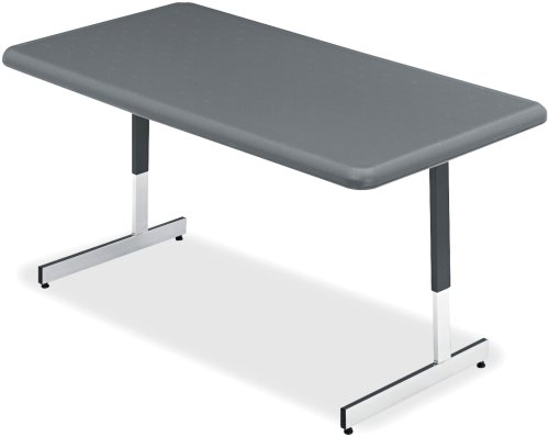 Iceberg ICE65727 IndestrucTable TOO Adjustable Height Resin Utility Table, 60