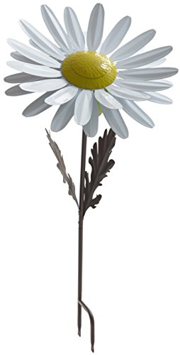 Desert Steel White Daisy Garden Torch – Metal Art Citronella Flower Torch by Desert Steel