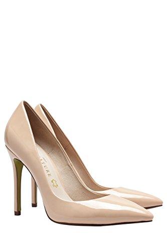 next Para Mujeres Signature Zapatos Con Tacones Stiletto De Salón Puntera En Punta Desnudo