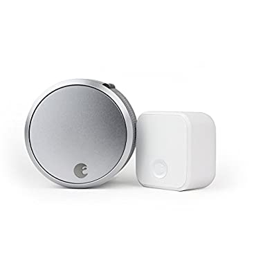 August Smart Lock Pro + Connect, 3rd gen technology Silver, works with Alexa
