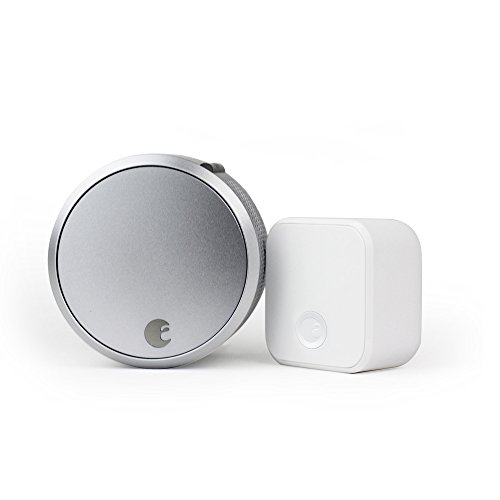 (August Smart Lock Pro + Connect, 3rd gen technology - Silver, works with Alexa)