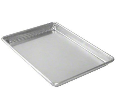 Tiger Chef Quarter Size Aluminum Sheet Pan - Commercial Bakery Equipment Cake Pans - NSF Approved (1, 10