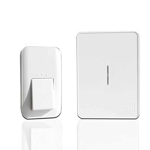 Wireless-Doorbell-No-Batteries-Requried-IPX7-Waterproof-and-Flameresistant-Doorbells-for-Both-Plugin-Receiver-and-1-Kinetic-Transmitter-Operating-Range-100m-with-38-Melodies