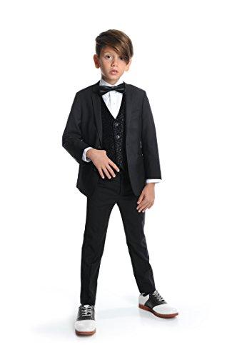 Appaman Boys Black Mod Suit Set (10, black) by Appaman (Image #1)