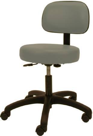 McKesson Physician Stool Backrest Gas Lift, Fingertip Adjustment
