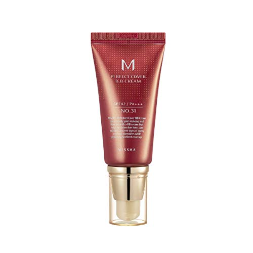 MISSHA M PERFECT COVER BB CREAM #31 SPF 42 PA+++ 50ml-Lightweight, Multi-Function, High Coverage Makeup to help infuse moisture for firmer-looking skin with reduction in appearance of fine lines