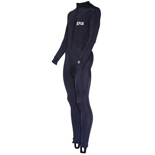 Edge Sport Lycra Body Suit Dive Skin (Black, Medium)