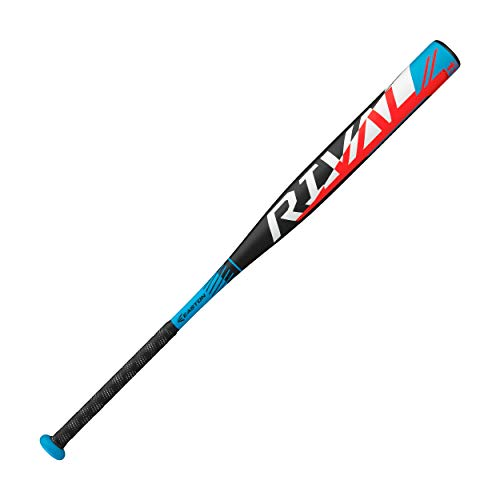 Easton Rival Slowpitch Softball Bat | 34 inch / 26 oz | 2020 | 1 Piece Aluminum | Power Loaded | ALX50 Military Grade Aluminum Alloy | 12 inch Barrel | Certification: Approved for All Fields