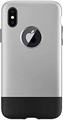 on sale 92087 6a5aa Spigen Classic C1 [10th Anniversary Limited Edition] Designed for iPhone X  Case (2017) - Aluminum Gray