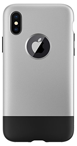 Spigen Classic C1 [10th Anniversary Limited Edition] Designed for iPhone X Case (2017) - Aluminum Gray (Case Iphone Apple 3g)