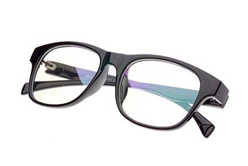 伊達メガネ ウェリントン 丸型 メンズ レディース 兼用 クリア ブラック