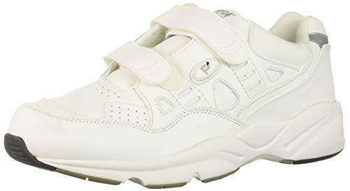 Propet Women's Stability Walker Strap Walking Shoe, White,17 5E US