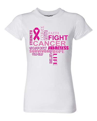 P&B Love Fighting Breast Cancer Women's T-Shirt, 2XL, ()
