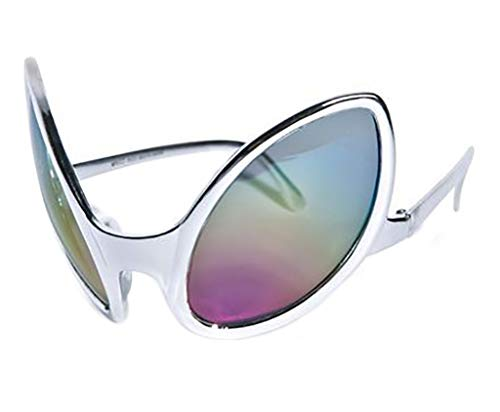 FancyPants FunTime Silver Alien Glasses Eyes Close Encounters Sunglasses