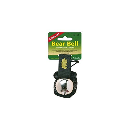Coghlan's Bear Bell w/Magnetic Silencer Bag & Loop Strap Warns Animals (4 Pack)