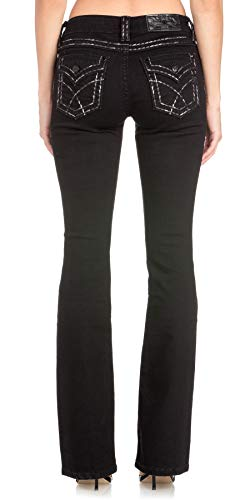Miss Me On Your Mark Bootcut Jeans Black