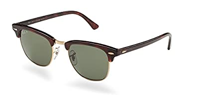 Ray-Ban Authentic Clubmaster RB 3016 990/58 49mm Havana / Green Polarized Lens