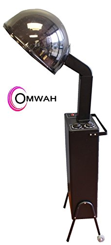Standing Professional Hair Salon Adjustable Conditioning Hooded Box Dryer with Detachable Wheels by OMWAH