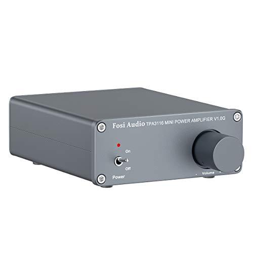 Stereo versterker luidspreker 50 W x 2, 2-kanaals audio-versterker Mini-HiFi-klasse D Geïntegreerde TPA3116- met 19 V, 4…