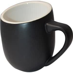 Offero 16 Ounce Coffee Cup in Matte Black (Set of 2)