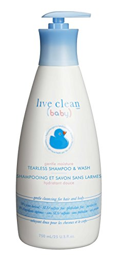 Live Clean Baby TEARLESS SHAMPOO & WASH Organic Eco Friendly 750 ml (25 fl oz)