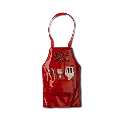 Personalized King of The Grill Apron Christmas Tree Ornament 2019 - Man Cooker Boy Barbecue Spatula BBQ Lover Dad Smoker Family Activity Master Hobby Gridiron Backyard Year - Free Customization (Best Backyard Smoker 2019)